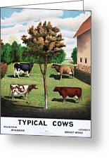 Typical Cows  Greeting Card