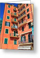 Typical Ligurian Homes Greeting Card