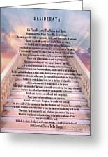 Typography Art Desiderata Poem On Stairway To Heaven Greeting Card