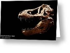 Tyrannosaurus Rex Skull 4 Greeting Card