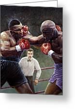Tyson/holyfield Greeting Card