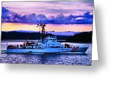 U S Coast Guard Cutter Greeting Card