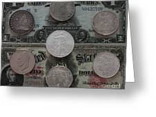 U S History Of Silver Dollars Greeting Card