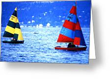 Ubc Sailboats Greeting Card