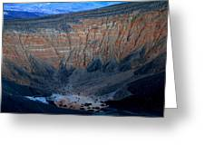 Ubehebe Crater Twilight Death Valley National Park Greeting Card