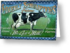 Udderly Scrumptious Greeting Card by JQ Licensing