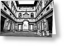 Uffizi Gallery In Florence Greeting Card
