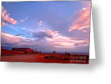 Ufo At Monument Valley Greeting Card
