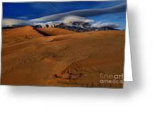 Ufos Over Sand Dunes Greeting Card