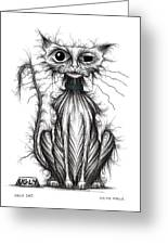 Ugly Cat Greeting Card