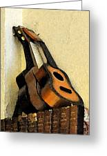 Ukes Greeting Card by Everett Bowers