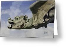 Ulmer Munster Gargoyle Greeting Card by Sam Sidders