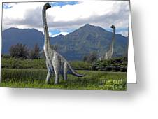 Ultrasaurus In Meadow Greeting Card