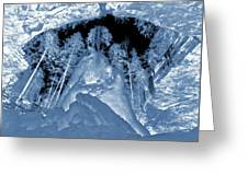 Ultraviolet Cave In Winter Greeting Card