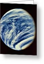 Ultraviolet Photo Taken By Mariner 10 Greeting Card