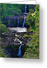 Umauma Falls I Greeting Card