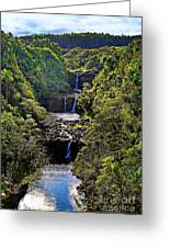 Umauma Falls II Greeting Card