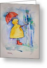 Umbrella Boy II Greeting Card