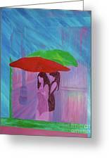 Umbrella Girls Greeting Card