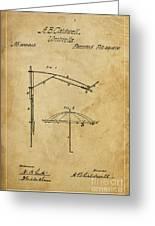 Umbrella Patent - A.b. Caldwell Greeting Card