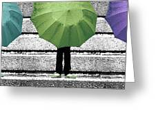 Umbrella Trio Greeting Card