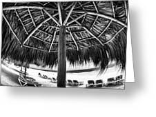 Umbrella View Greeting Card by John Rizzuto