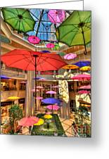 Umbrellas At Palazzo Shops Greeting Card by Amy Cicconi