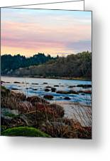 Umpqua Sunset Greeting Card