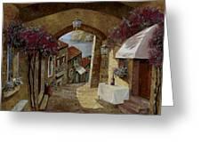 Un Bicchiere Sotto Il Lampione Greeting Card by Guido Borelli