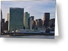 Un Buildings - Riverside Greeting Card