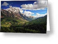 Un Valle Greeting Card