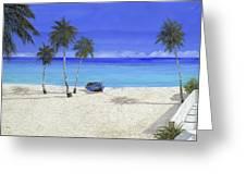 Una Barca Blu Greeting Card