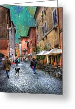 Una Notta A Roma Greeting Card