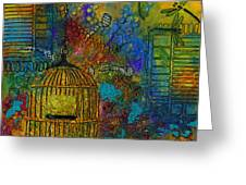 Uncaged Greeting Card