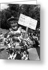 Uncle Harry Clown Drive Carefully  God Bless America Sign Tucson Arizona 1991 Greeting Card