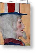 Uncle Sam Closeup Red White And Blue Greeting Card