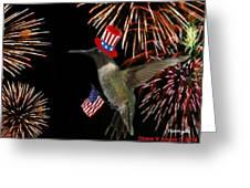 Uncle Sam Hummer Greeting Card