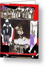 Uncle Sam Richard Nixon Mask Nuns Sitting Child Collage 2013 Greeting Card