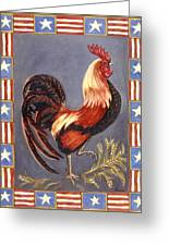 Uncle Sam The Rooster Greeting Card