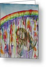 Under A Crying Rainbow Greeting Card