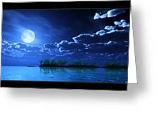 Under A Silvery Moon...artistic Effect Greeting Card