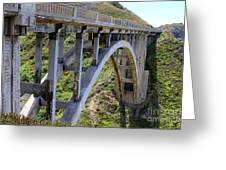 Under Bixby Bridge By Diana Sainz Greeting Card