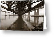 Under Bridges Greeting Card