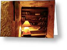 Under Ground Book Shelf Greeting Card