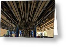 Under Pass Transition   Greeting Card