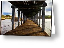 Under-section Below The West Pier Greeting Card
