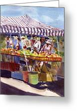 Under The Awning Greeting Card