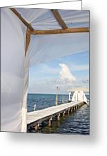 Under The Bamboo Lanai Caye Caulker Belize Greeting Card