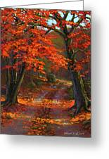 Under The Blazing Canopy Greeting Card