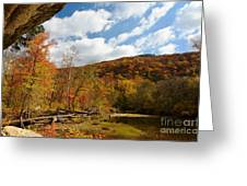 Under The Bluff Greeting Card